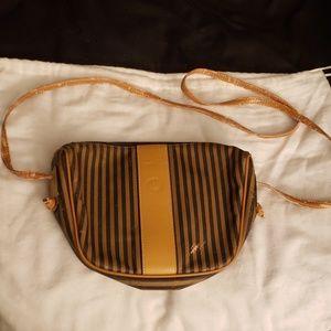 Fendi Vintage Crossbody Purse Striped